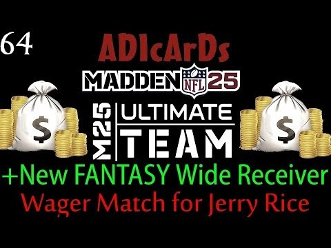 Madden 25 Ultimate Team | DEBUT OF NEW FANTASY RECEIVER! | 150k vs. Jerry Rice | MUT 25