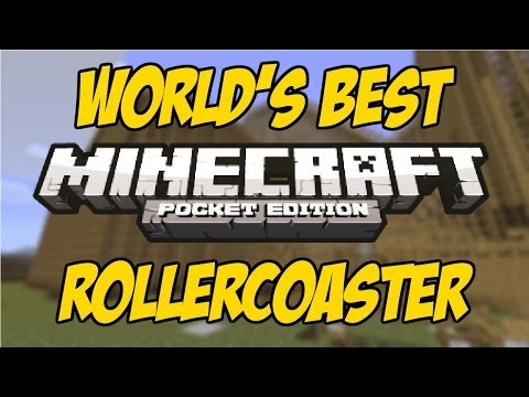 [0.8.1] Best Minecraft Pocket Edition RollerCoaster!