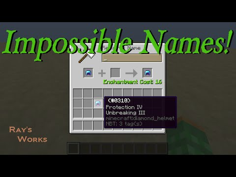 How to give items IMPOSSIBLE NAMES! 1.12-1.8+ Vanilla Survival Minecraft | Ray's Works