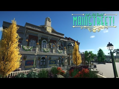 Planet Coaster - Town Hall/Clock Tower | Building Mainstreet! #1