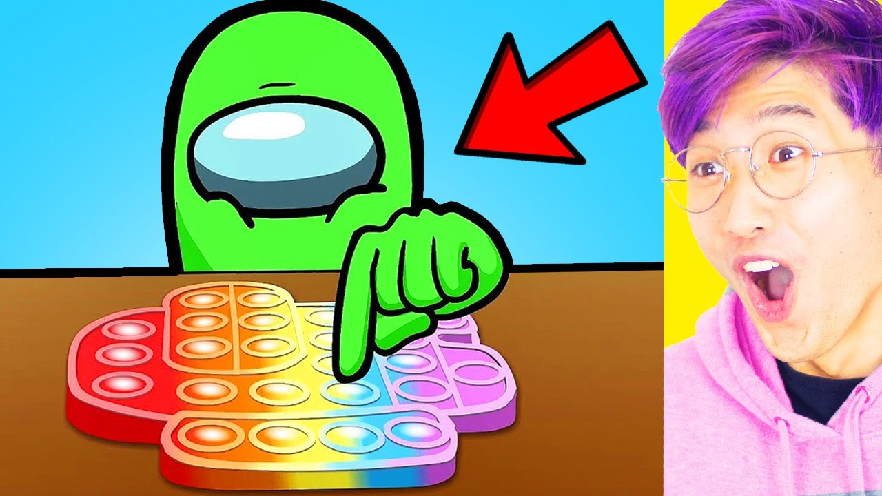 LankyBox Reacts To FUNNIEST MEME VIDEOS On YOUTUBE!? (AMONG US POP IT vs FRIDAY NIGHT FUNKIN)