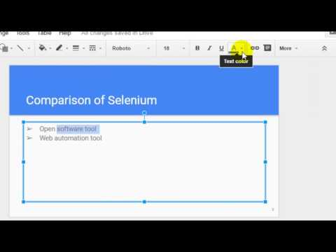 How to change text color in Google slides