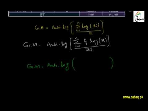 Geometric Mean of Grouped Data by Logarithm