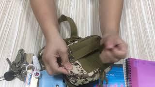 4GL Upgraded Tactical Waist Bag Men Pouch Bag Men Sling Bag Men Army Bag Military Bag Tactical Bag