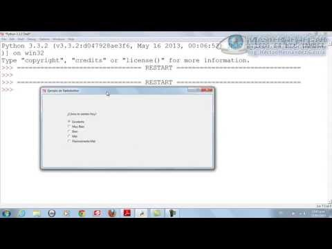 44 - Cómo crear Radiobutton con tkinter (Python)