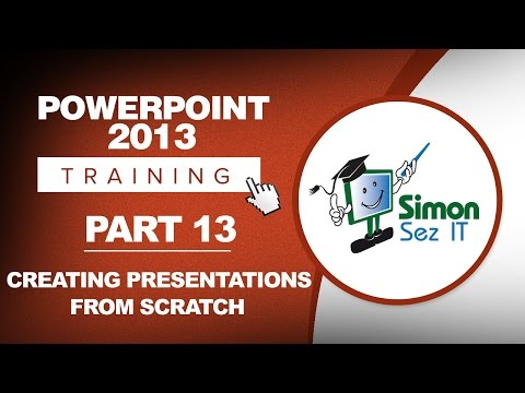 PowerPoint 2013 for Beginners Part 13: Create a New Presentation in PowerPoint