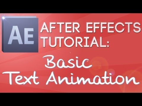 Adobe CS5 After Effects Tutorial: Basic Text Animation