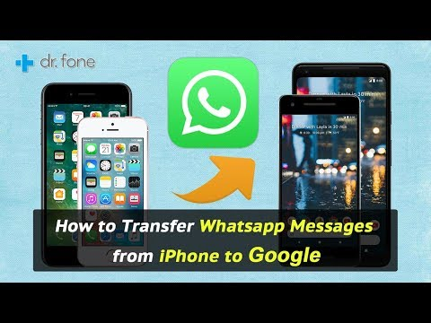 How to Transfer Whatsapp Messages from iPhone to Google