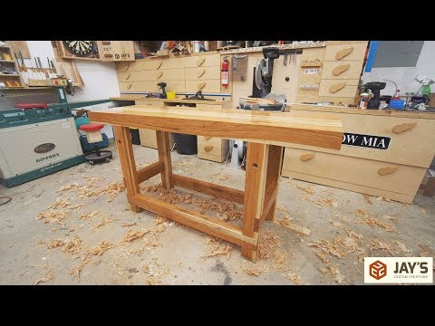 A Hickory Woodworking Workbench