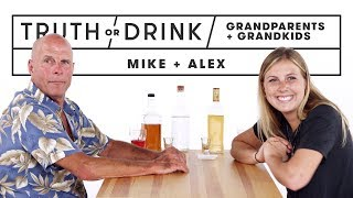 Grandparents & Grandkids Play Truth or Drink (Michael & Alex) | Truth or Drink | Cut