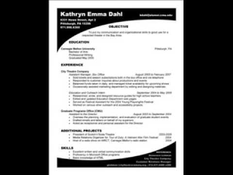 How to write a resume - Resume Templates and Samples
