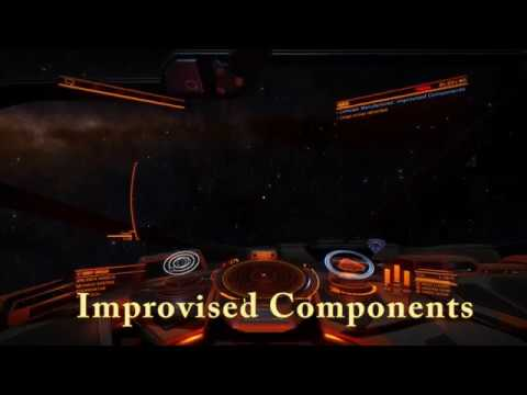 Elite Dangerous Improvised Components (Shown fast and simple)