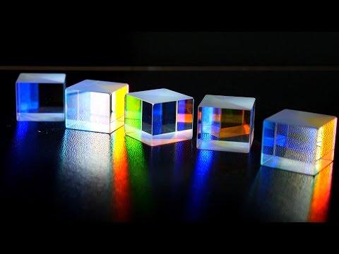 Glass Prisms. Rainbow Colors