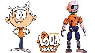 The Loud House Characters As Fnaf Animatronics