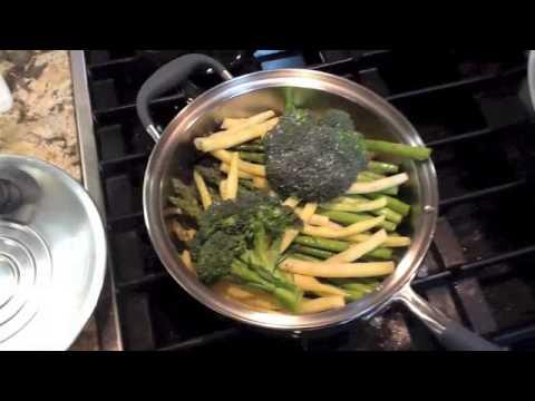 chef Warren Goodgoll ~ Garlic asparagus, beans & broccoli