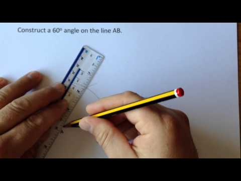 Constructing a 60 degree angle