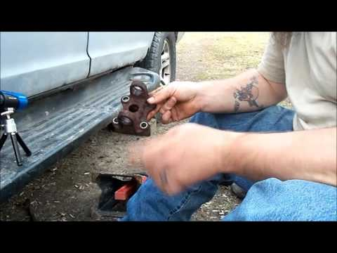 Replacing a universal joint on a 2000 ford expedition...with bunnies