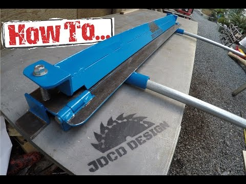 How To: Home-made Sheet Metal Brake, Built On A Budget!!!