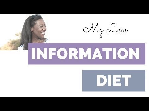 My Low Information Diet (the secret to getting more done!)