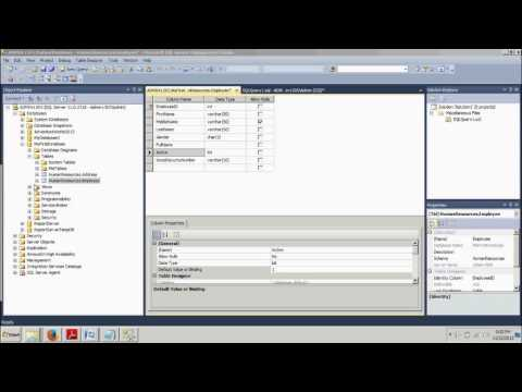 Sql Server tutorial 11: Adding Constraints to a table