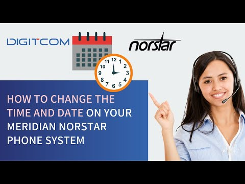 How to Change the Time and Date on your Meridian Norstar Phone System