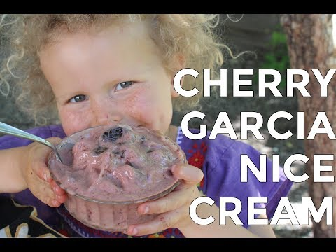 DIY Cherry Garcia Ice Cream |  Raw Vegan Recipe