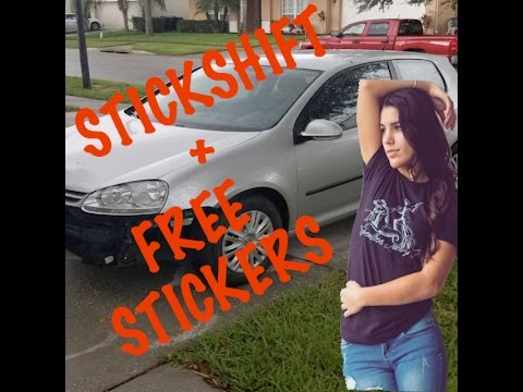 teaching girl to drive stick + FREE STICKERS