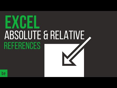 What is an Absolute and Relative Reference in Excel?