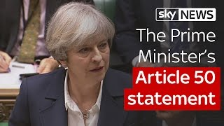 The Prime Minister's Article 50 statement