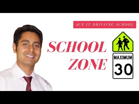 How To Drive Properly In A School Zone