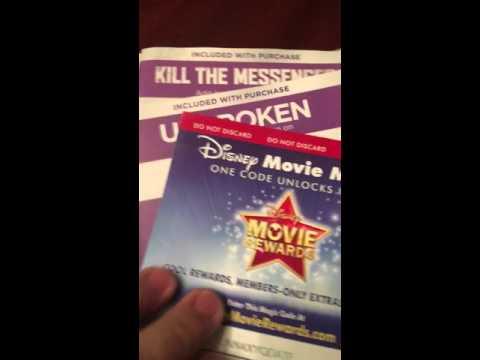 Over 450 free digital HD copy codes ultraviolet vudu Disney rewards iTunes part one