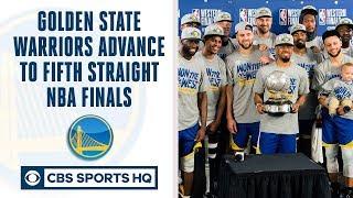 Golden State Warriors make FIFTH straight NBA Finals   Can Raptors or Bucks beat GS?   CBS Sports HQ