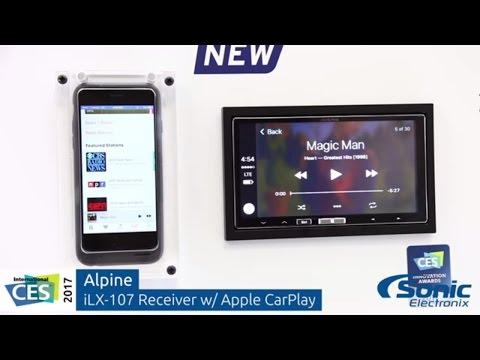 Alpine iLX-107 In-Dash Receiver w/ Wireless Apple CarPlay   CES 2017