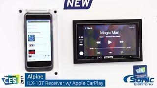 Alpine iLX-107 In-Dash Receiver w/ Wireless Apple CarPlay | CES 2017