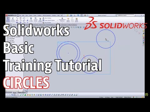 Solidworks Basic Training Tutorial - Circles and Arcs