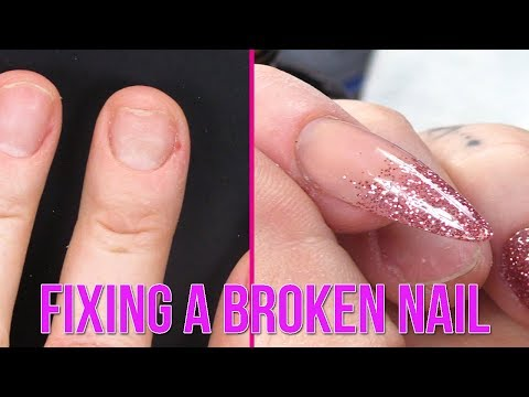 How to Apply an Acrylic Tip & Overlay on a Broken Nail - Step by Step Tutorial