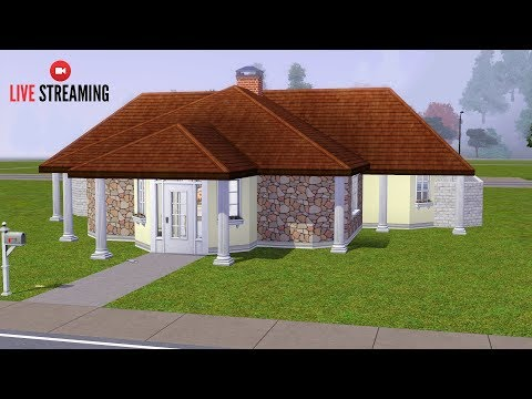 The Sims 3 LIVE! Building a Bunker House - Part 3