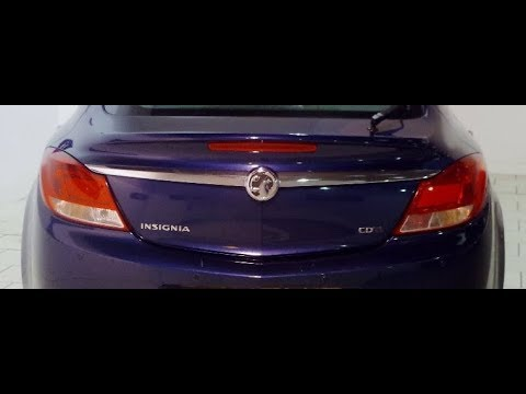 Removal of Vauxhall Insignia rear tail light cluster (replace rear bulbs)