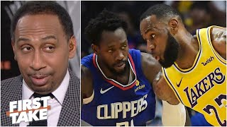 Stephen A. reacts to Patrick Beverley downplaying guarding LeBron | First Take
