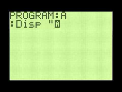 TI 83/84+ Programming Basics #1