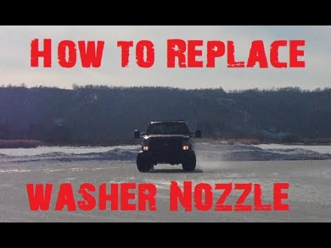 How To Replace F350 Windshield Washer Nozzle