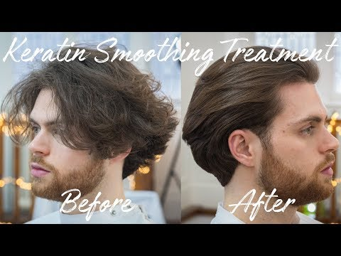 Keratin Smoothing / Straightening Treatment On Men's Hair | Review