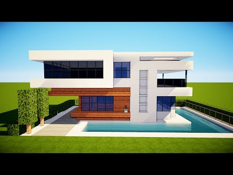 MINECRAFT: How to Build a Small Modern House Tutorial (2017)