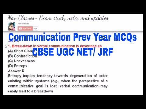 communication Previous Year MCQs | CBSE UGC NET | in Hindi