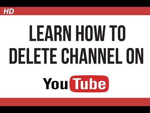 How to delete channel on Youtube