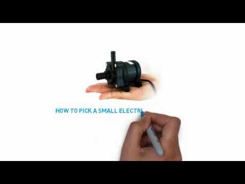 How to pick up a small electric water pump