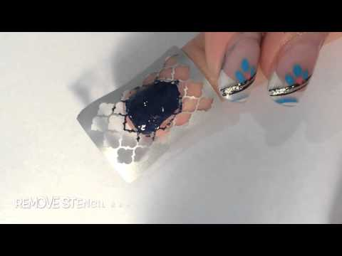 How to use and apply nail stencils // from whatsupnails //
