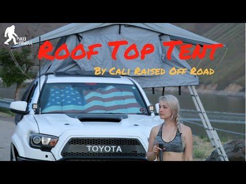 CALI RAISED ROOF TOP TENT! (2016 Toyota Tacoma)