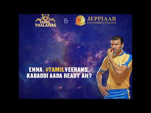 Kabaddi Academy | Tamil Thalaivas & Jeppiaar Eng college come together!