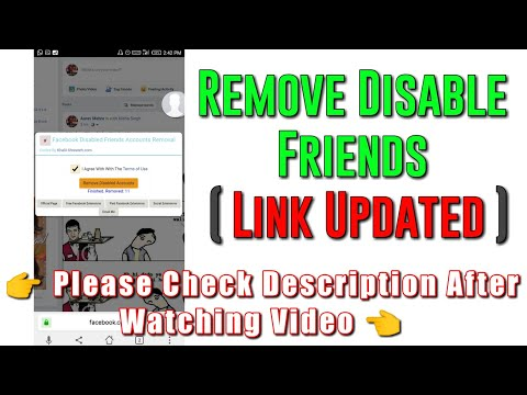 How to Remove Disabled Facebook Friends on Android by using chrome extension 2017